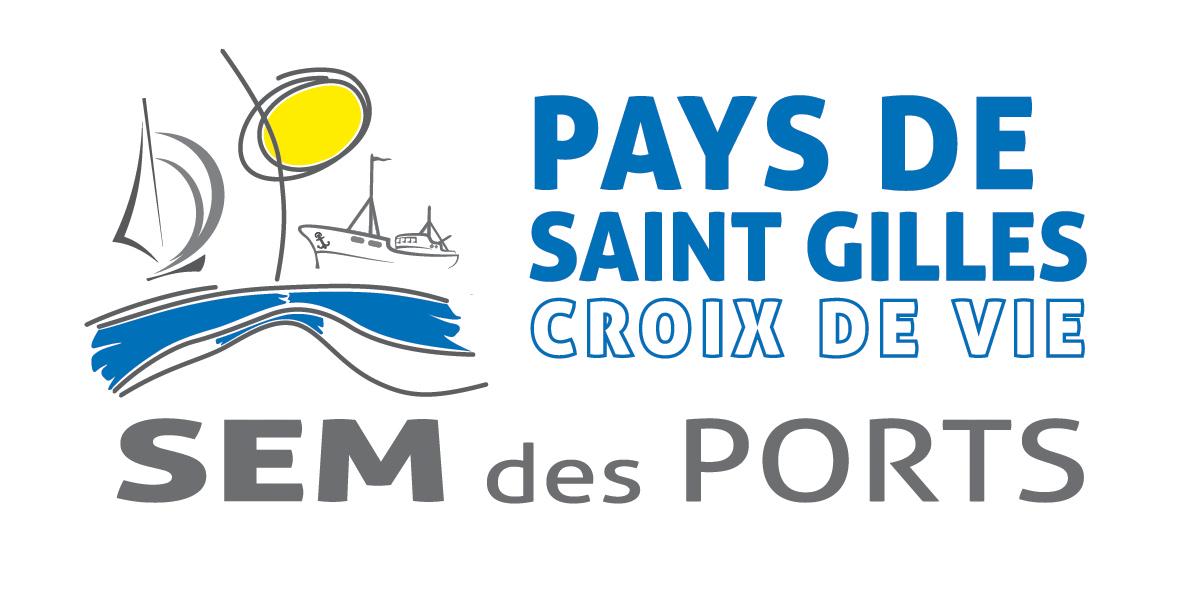 Logo SEM des Ports du PaysSaintGillesCRoixdeVie _horizontal_cmjn