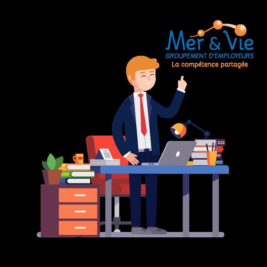 Chefs d'entreprise, Responsable RH, recrutez avec le groupement d'employeurs Mer & Vie - Le Groupement Mer & Vie spécialiste du temps partagé et des compétences mutualisées sur les secteurs de Saint Gilles Croix de Vie, Aizenay et la Roche-sur-Yon
